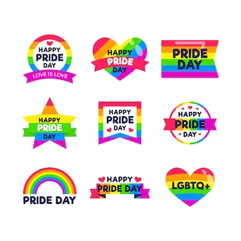 Pride day labels style