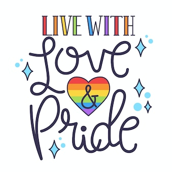 Pride day lettering concept