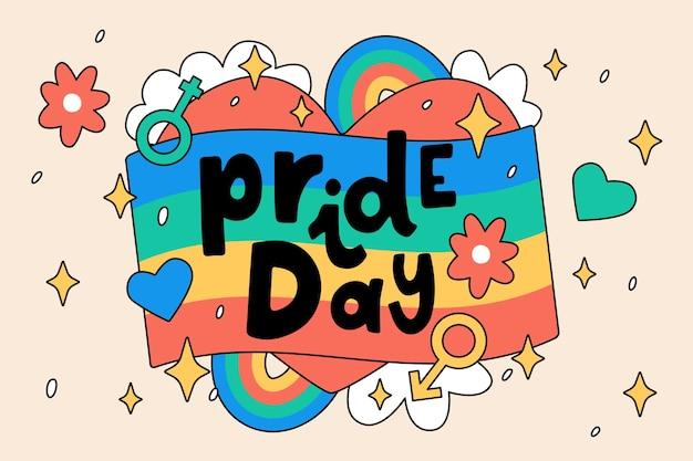 Pride day lettering message design