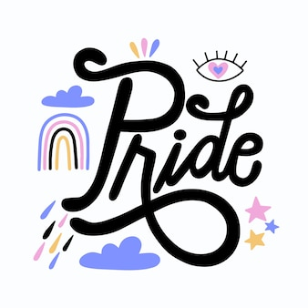 Pride day lettering style