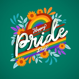 Pride day lettering