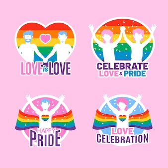 Pride day neon badges