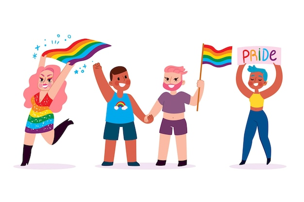 Pride day people concept