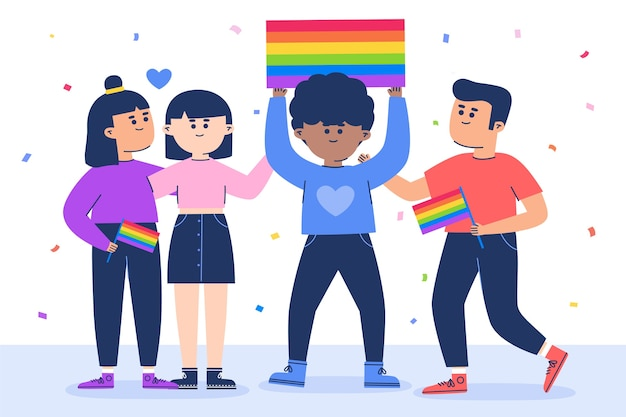 Pride day people illustration