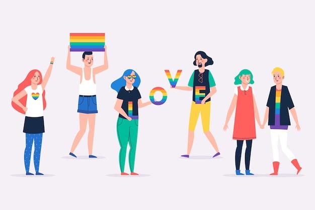 Illustrazione della gente di giorno di orgoglio