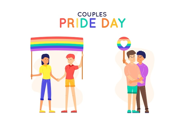 Pride day people together