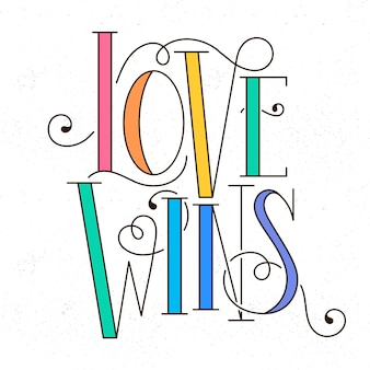 Pride day rainbow coloured lettering