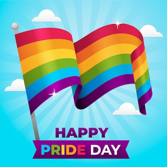 Pride day rainbow flag design