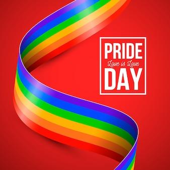 Pride day rainbow flag style
