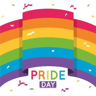 Pride day rainbow flag