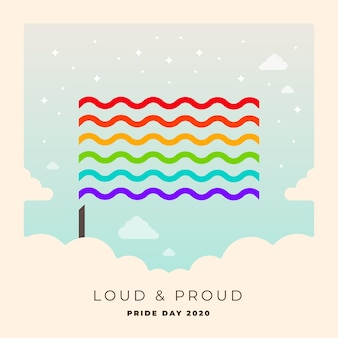 Pride day rainbow flag