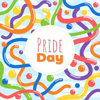 Pride day squiggle background