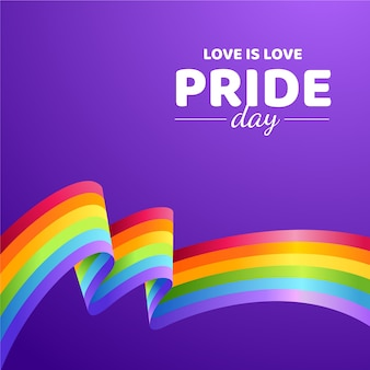 Pride day with flag concept