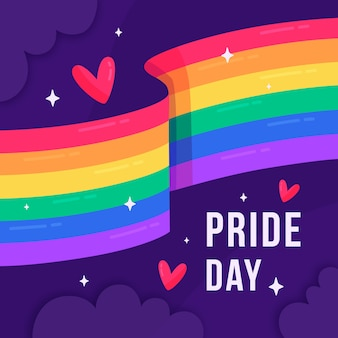 Pride day with flag theme