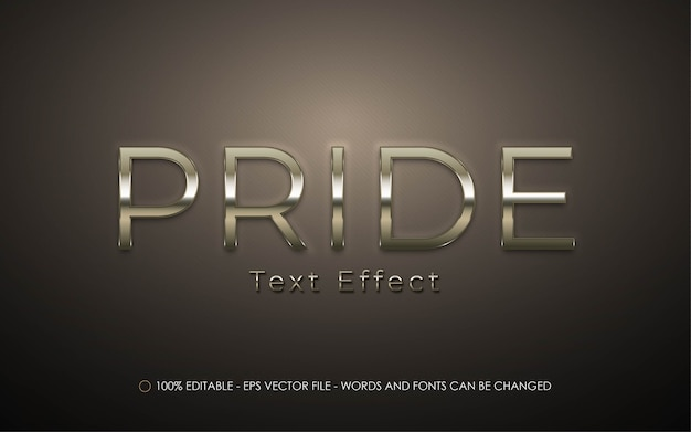 Pride editable text effect
