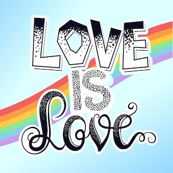 Pride love is love background