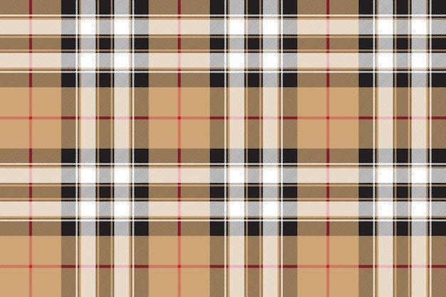 Гордость шотландии золотой тартан текстура ткани бесшовный фон