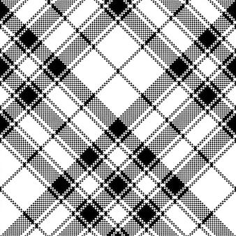 스코틀랜드 타탄 체크 무늬 픽셀 원활한 패턴의 자존심