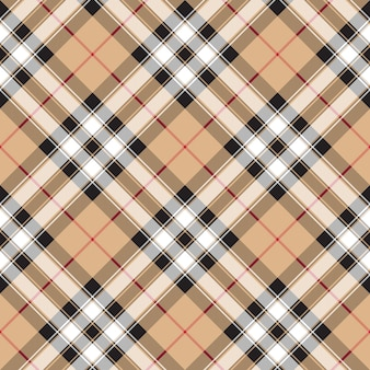 Pride of scotland gold tartan fabric textile diagonal seamless pattern background