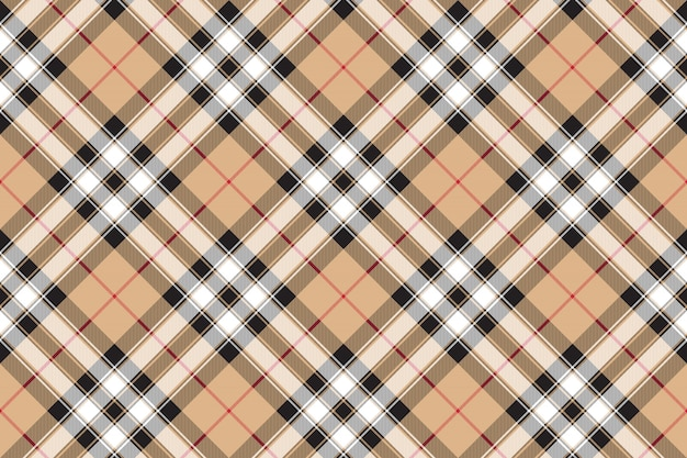 Pride of scotland gold tartan fabric texture diagonal seamless pattern