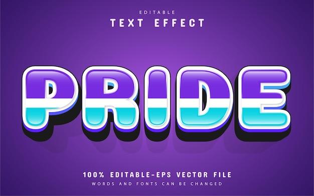 Текст гордости, текстовый эффект в мультяшном стиле