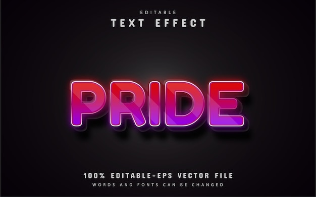 Pride text effect