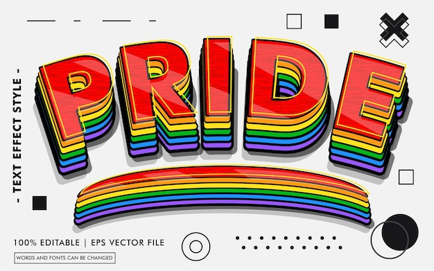Pride text effects style