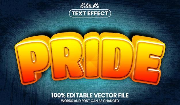 Текст гордости, редактируемый текстовый эффект стиля шрифта