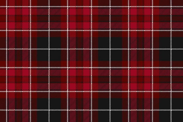 Pride of wales fabric textile red tartan seamless horizontal background