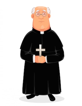 Priest cartoon character, holy father
