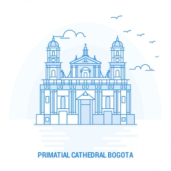 Primatial cathedral bogota blue landmark