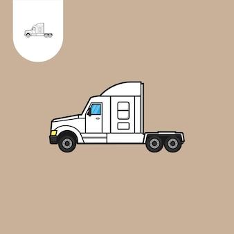 Тягач грузовик вектор тягач грузовик мультфильм