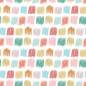 Primitive seamless pattern with freehand squares. autumn simple texture for kids fabric, textile, birthday card, wrapping