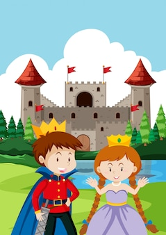 Prince and princes at the castle