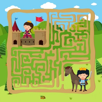 Prince and princes puzzle maze game