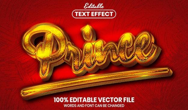プリンステキスト、フォントスタイルの編集可能なテキスト効果