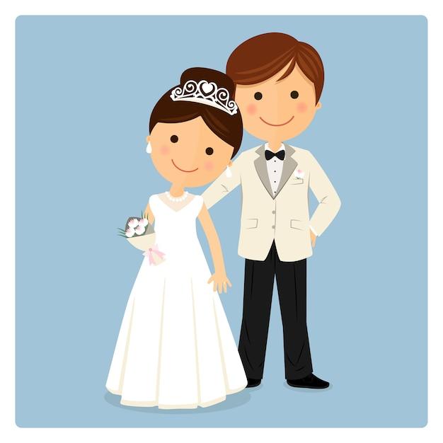 Princely style couple on blue background