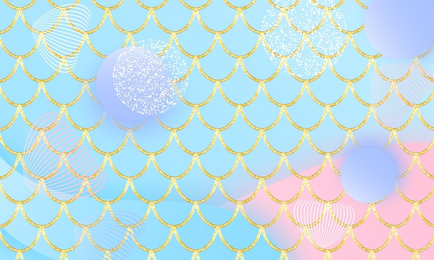 Princess background. magic stars. gold scales. fairy pattern. fantasy galaxy.