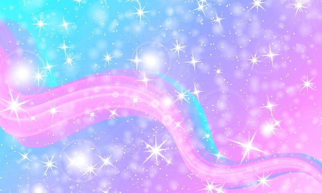 Princess background. magic stars. unicorn pattern. fantasy galaxy.