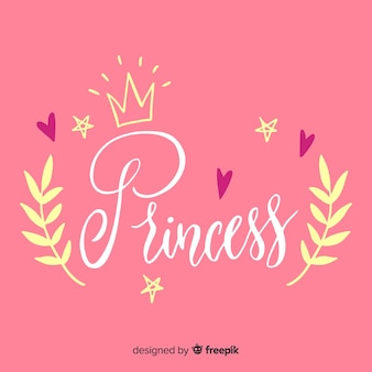 Princess calligraphic background