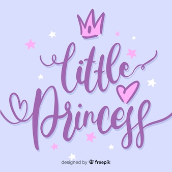 Princess calligraphic hand drawn background