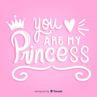 Princess calligraphic hand drawn background