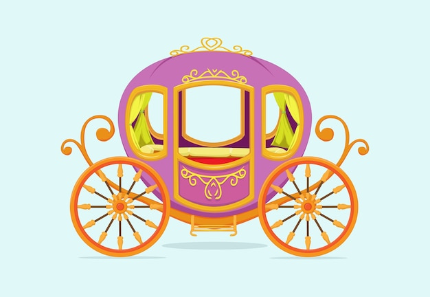 Princess carriage cartoon