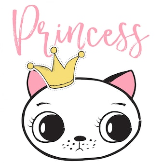 Princess cat backround