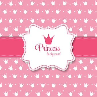 Princess crown on background vector illustration. eps10