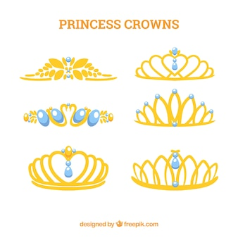 Princess crown collection with blue jewels