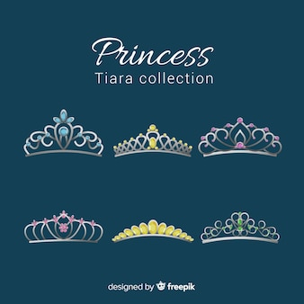 Princess golden and silver tiara pack