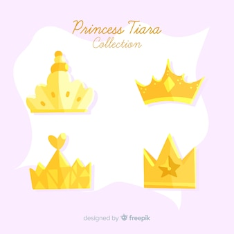 Princess golden tiara collection