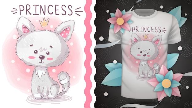 Принцесса китти - идея для печати футболки