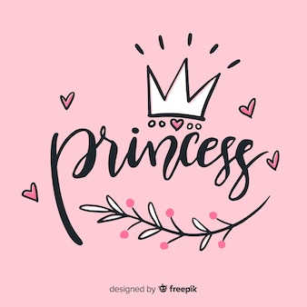 Princess lettering background